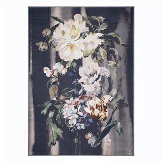 Plaid floral noir et multicolore